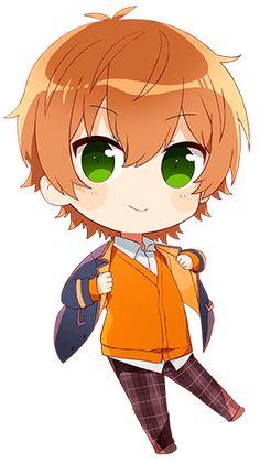 Chibi Boy, Kawaii Chibi, Cute Chibi, Anime Chibi, Kawaii Anime, Cute Anime Guys, Anime Love, Chibi Couple, Haikyuu Funny