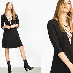 Zara Black Open Front Skirt