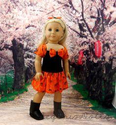 American Girl Doll Clothes Halloween Dress by MegOrisDolls on Etsy, $28.00