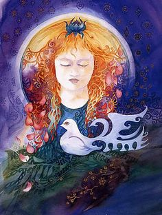par Helena Nelson-Reed Fantasy Paintings, Fantasy Art, Whimsical Art, Medium Art, Figurative Art, Pattern Art, Mixed Media Art, Mystic, Illustration Art