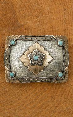 Need this turquoise belt buckle! Hebillas Vaqueras 748476ac5672