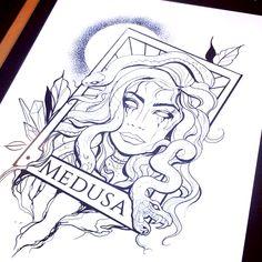 Flash Art Tattoos, Dope Tattoos, Body Art Tattoos, Small Tattoos, Sleeve Tattoos, Tattos, Spooky Tattoos, Men Tattoos, Medusa Tattoo Design
