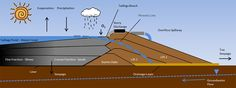 Sources and Pathways of ARD, NMD, and SD in a Subaqueous Tailings Storage Facility - Centerline Raise Construction Method Storage Facility, Jpg, Fractions, Pathways, Geology, Infographic, Management, Construction, Illustrations