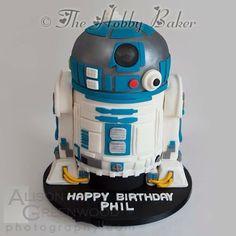R2D2 - Cake by The hobby baker