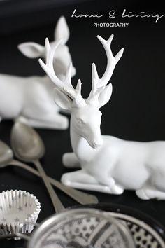 Black & White Christmas decor