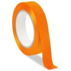 Safety Tape for Low Vision- Fluorescent Orange - click to view larger image