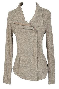 Comfy Casual Crossover Cardigan in Oatmeal  www.lilyboutique.com