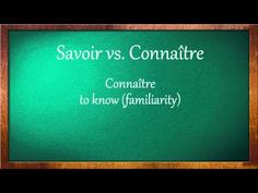 Savoir and Connaître - YouTube this helps me diferenchiate  between savoir and connaître.
