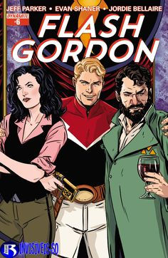 Marc Laming's covers to Flash Gordon We miss this series already. Flash Gordon Comic, Young Justice, Animated Cartoons, Fun Comics, Dc Heroes, Nightwing, Comic Character, Character Design, Comic Covers