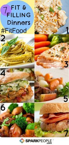 What's for dinner? Try one of these 7 different healthy meals for every night of the week!|
