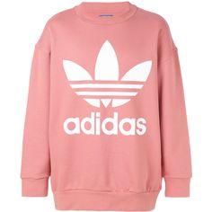 Adidas Adidas Originals logo sweatshirt (£80) ❤ liked on Polyvore featuring men's fashion, men's clothing, men's hoodies, men's sweatshirts, men, mens sweatshirts and mens sweatshirts and hoodies