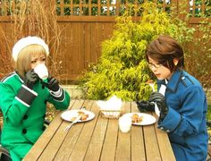 Austria and Switzerland, Axis Powers Hetalia-cosplay