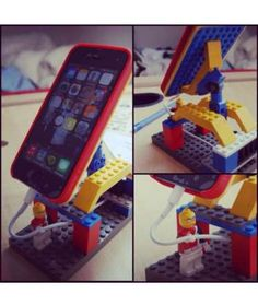 This use of Legos is particularly genius—it's a cellphone stand that's ideal for watching videos or ... - Mom.me