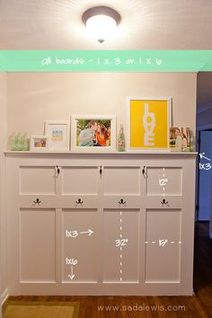 DIY Board & Batten Entry Way Tutorial - Measurements