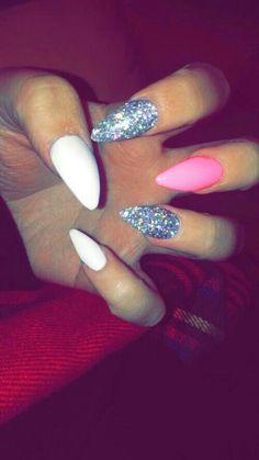 White, pink, gray