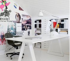 Home Office Design in Vintage Style BASF corporate offices by SPACE, Mexico City office design Home Office Inspiration / Inspiration Bureau . Home Office Space, Office Workspace, Home Office Design, Office Decor, House Design, Office Ideas, Office Furniture, Office Spaces, Office Designs