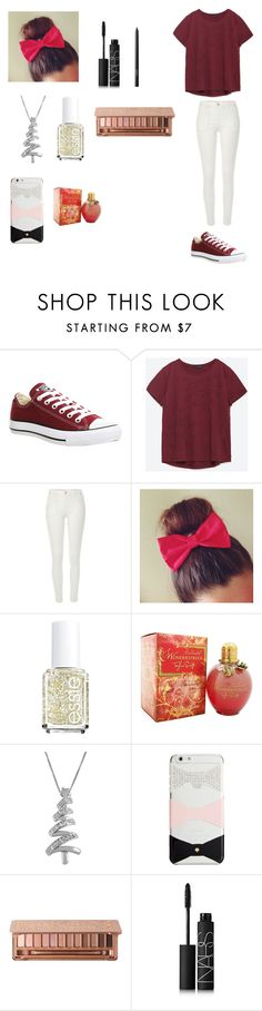 """Untitled #123"" by cakepop14123 ❤ liked on Polyvore featuring Converse, Zara, River Island, Essie, Jewel Exclusive, Kate Spade, Urban Decay and NARS Cosmetics"