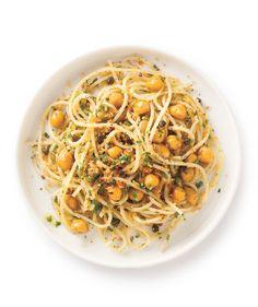 Crispy Chickpea and Caper Spaghetti