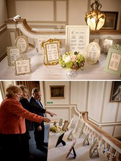 Why not create your table plan by framing the list for each table in a different vintage frame.