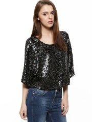 Celebrity Style - Anushka Sharma   Sequin Top - Buy at Koovs.com