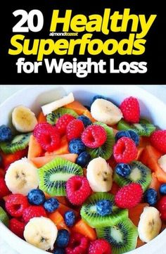 These healthy superfoods for weight loss are incredible! Lose weight by incorporating these metabolism boosting, fat annihilating superfoods into your diet. Easy Diet Plan, Healthy Diet Plans, Healthy Recipes, Healthy Weight, Healthy Eating, Diet Recipes, Healthy Foods, Healthy Fruits, Recipies