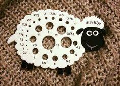 HiyaHiya Sheep Needle Gauge He's baaah...brilliant! Have you got a cute #hiyahiya #needle gauge? #knitting ---the picture is from HiyaHiya Europe on Facebook