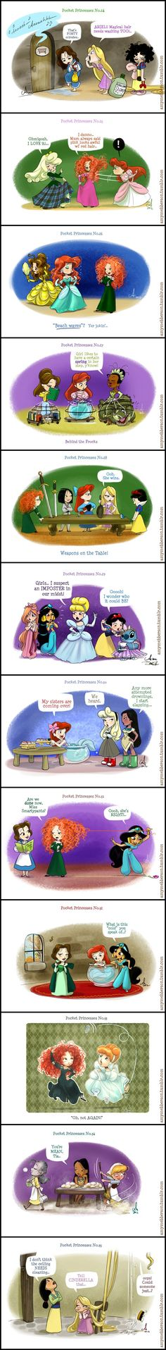 Pocket Princesses (Part 3) by Amy Mebberson STITCH. GUYS STITCH MAKES WHATEVER WAS ALREADY BEAUTIFUL JUST FABULOUS