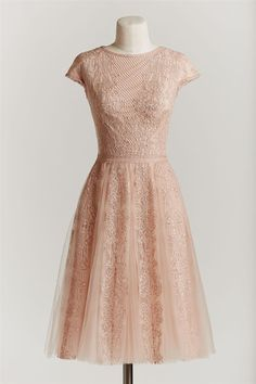 Love this blush lace dress