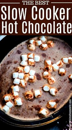 you HAVE to try this asap! It's amazing.Okay you HAVE to try this asap! It's amazing. Crock Pot Hot Chocolate Recipe, Hot Chocolate Recipes, Campfire Desserts, Best Slow Cooker, Chicken Chili, It's Amazing, Chicken Recipes, Breakfast, It's Easy
