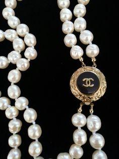 Chanel Button Necklace ArmCandyDesignsbyZ contact me zumphlette@aol. com