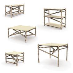 LINK mobilier modulaire par Christian Sjöström