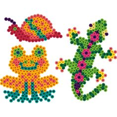 Slimy, crawly, and jumpy critters of the swamp come alive in Perler Beads! Create them using our simple patterns and our uniquely shaped pegboards.