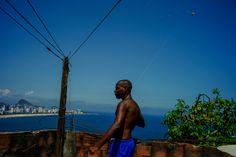 A man flies a kite over the Vidigal favela. David Alan Harvey, Kite, Brazil, Photography, Rio De Janeiro, Photograph, Dragons, Fotografie, Photoshoot