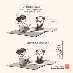 Polar Bear's take on Yoga (verbally) again...