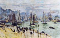 Fishing Boats Leaving the Harbor, Le Havre, 1874. Claude Monet