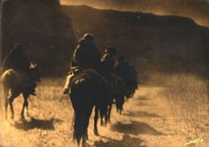 "Edward S. Curtis (1868-1952) Vanishing Race, Orotone, 8"" x 10""   http://www.medicinemangallery.com/Visions_of_the_west_Edward_S-Curtis_Wiliam_Henry_Jackson_article.lasso"