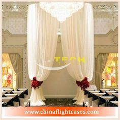 ST Portable Pipe and Drape, Aluminium Pipe and Drape with Poly Premier Fabric for Stage