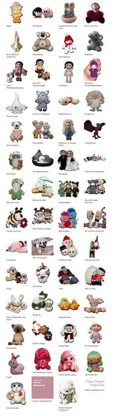 Naar het Nederlands vertaalde patronen, prachtig. Amigurumi Patterns, Amigurumi Doll, Knitting Patterns, Crochet Dolls, Crochet Baby, Knit Crochet, Diy Accessoires, Felt Books, Baby Sewing