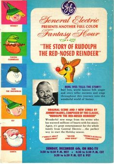 Burl Ives is the spotlight of this vintage advertisement.  Any vintage kid will tell you this brings back warm feelings of simpler times.  clb