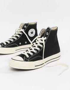 Высокие черные кроссовки Converse Chuck Taylor All Star Moda Sneakers, Sneakers Mode, Best Sneakers, Sneakers Fashion, High Top Sneakers, Mens Trainers, Chuck Taylors, Converse Noir, Black Converse Shoes