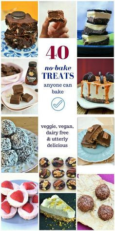 If you need a quick treat and don't have time to bake and frost a cake, traybakes are just what you want. Easy to make but so good. Check out these 40 no-bake treats from truffles, fudge and tiffin to cheesecakes.