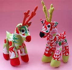 Rudy Reindeer Soft Toy Pattern by Melly & Me