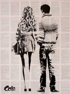 "Saatchi Art Artist Stuart James Cain Artist; Printmaking, ""Women in Love - Limited Edition 5 of 25"" #art"