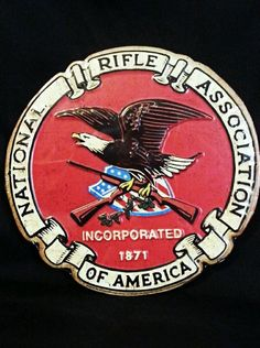 $31.99 + FREE SHIPPING TIN METAL NATIONAL RIFLE ASSOCIATION SIGN VINTAGE STYLE EMBOSSED GIFT ITEM