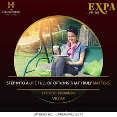 THE HEMISPHERE PRESENTS EXPA VILLAS Welcome to a #lifestyle that you would rejoice for the #lifetime. Move into a world where you options to expand your #villa in future as per your need. #Expa_Villas are located in heart of #Greater_Noida, just opposite to #metro #station.