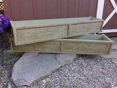 Distressed cedar window box/planter box/flower box/Wood