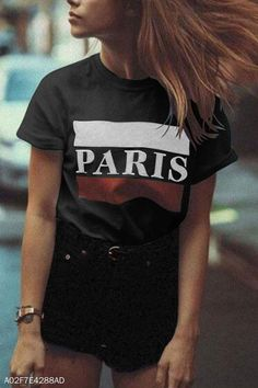 Round Neck Letters t shirt outfit t shirts outfit summer t shirts outfit casual t shirts outfit dressy t shirts outfit jeans and Jean Outfits, Casual Outfits, Cute Outfits, Casual T Shirts, Cool T Shirts, Cute Things For Girls, Letter T, High Quality T Shirts, Shirt Outfit