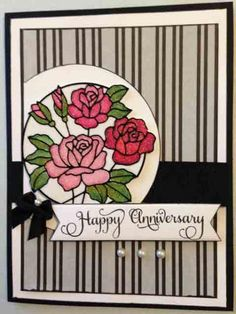 Glitter Rose Anniversary by mshatzma - Cards and Paper Crafts at Splitcoaststampers