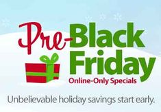 Black Friday is starting even earlier this year! Check out the Walmart Pre Black Friday Deals!
