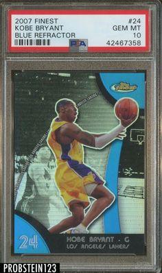 2004 Topps Finest 8 Kobe Bryant PSA 10 GEM MT Los Angeles Lakers Basketball Card